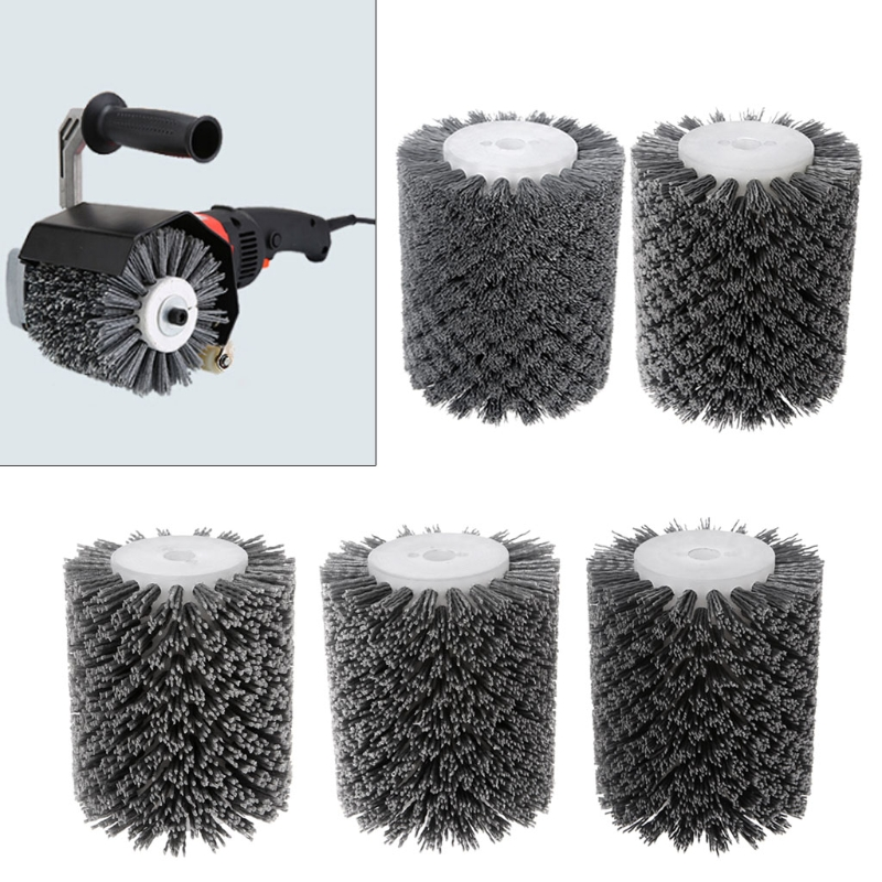 13MM Deburring Abrasive Wire Round Brush Head Polishing Grinding Tool Buffing Wheel For Furniture Wood Sculpture Rotary Drill