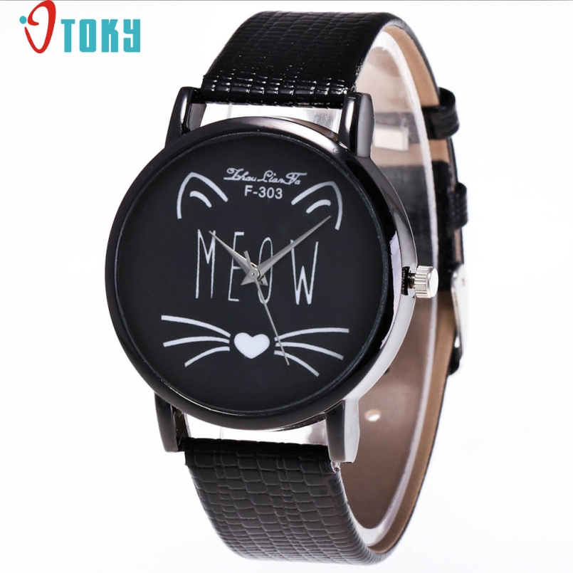 Excellent Quality Watch 2017 Relogio Feminino Watch Men Women Top Brand Cat Luxury Watches PU Leather Military Time Clock Mar 24