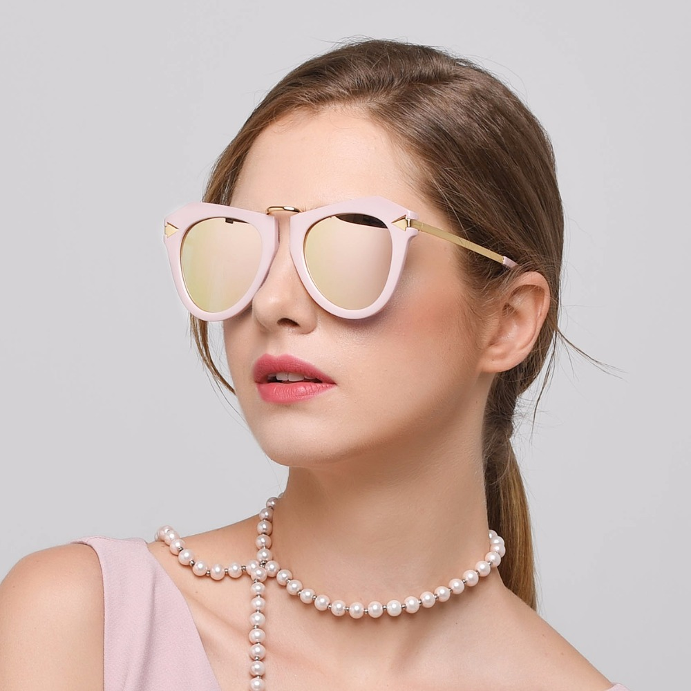 45654ca2800 DONNA Polarized Sunglasses Women Gradient Mirrored Glasses Cat Eye Plastic  Hipster Gorgeous Sun Glasses Look Stylish D42