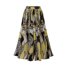 181dd6d9a2 Bohemia playa Falda larga las mujeres de gasa de verano vestido negro amarillo  de moda Casual