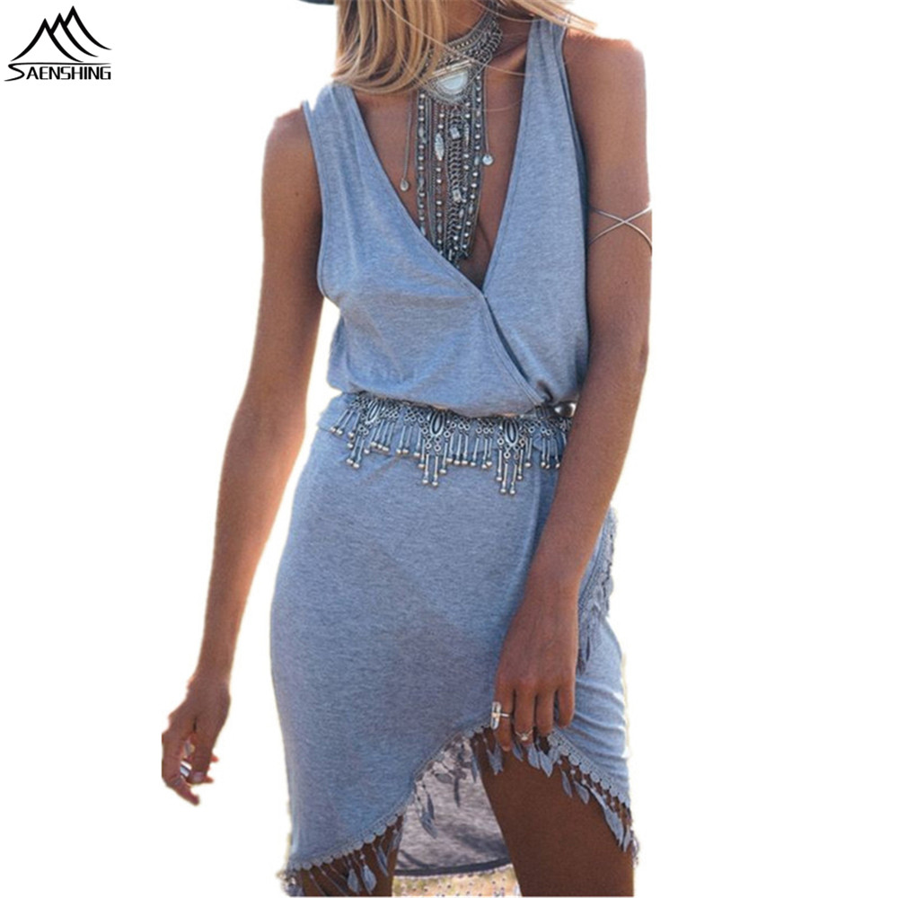 SAENSHING Pareo Beach Cover Up Deep V-neck Bikini CoverUps Swimwear Women Tunic Skirt beach dress Bathing Suit Summer Swimsuit
