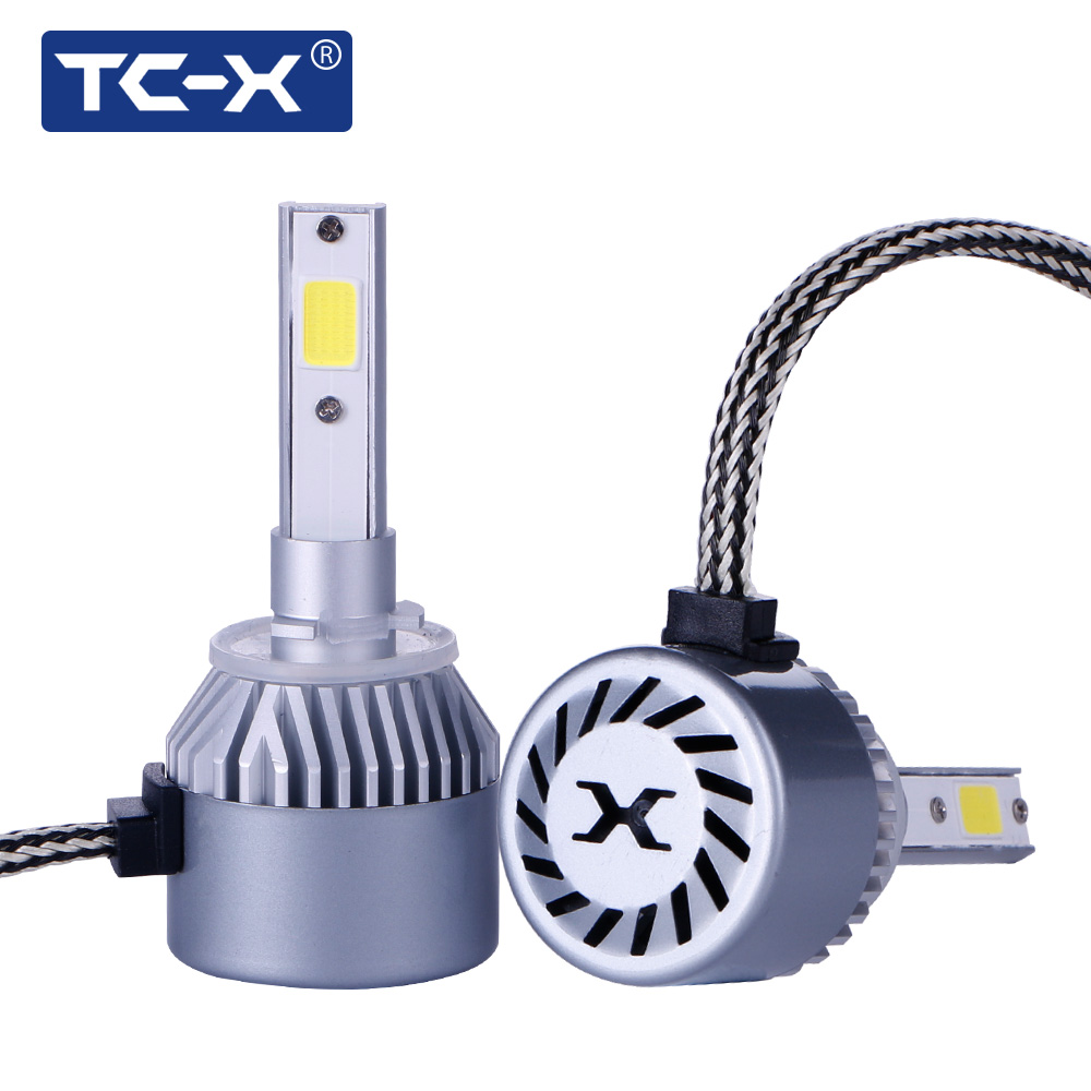 TC-X 7200LM COB LED Car Lights 880/H27 Fog LampLED Headlight Bulbs Conversion Kit 6000 LM 6000K High Power Car Lights Fog Light 1pair dc9 36v h1 cob 160w 8000lm led headlight kit lights beam bulbs 6000k external lights