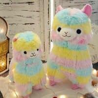 35 cm/50 cm arc-en-ciel alpaga jouets en peluche Kawaii jouets en peluche japonais poupée jouets enfants cadeau