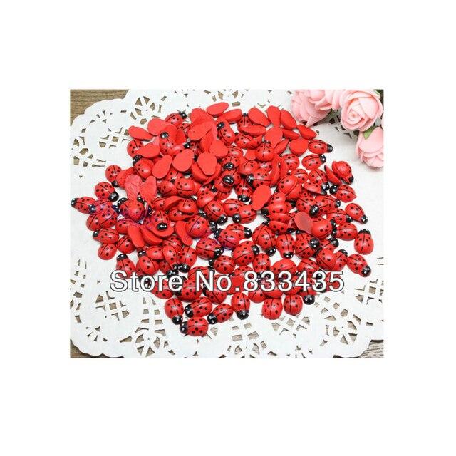 1ba9fe30f5e Envío Gratis 300 unids de Madera Pintado De Rojo Mariquita Artesanía Adorno  de Scrapbooking 9*13mm (W02287) en Botones de Hogar y Jardín en ...