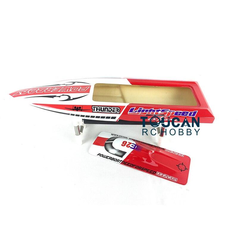 E26 KIT coque de bateau de course RC pré-peinte en Fiber de verre pour joueur Adcanced couleur rouge TH02630