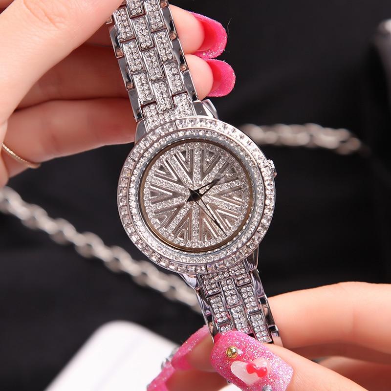 Luxury Brand lady Crystal Watch Women Dress Watch Fashion Rose Gold Quartz Watches Female Clock Relogio Feminino Montre Femme цена