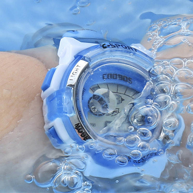 Waterproof Clock Children Watch CoolBoos Brand Certified Wristwatch Kids Boys Girls Students Digital Electronic Display Watches