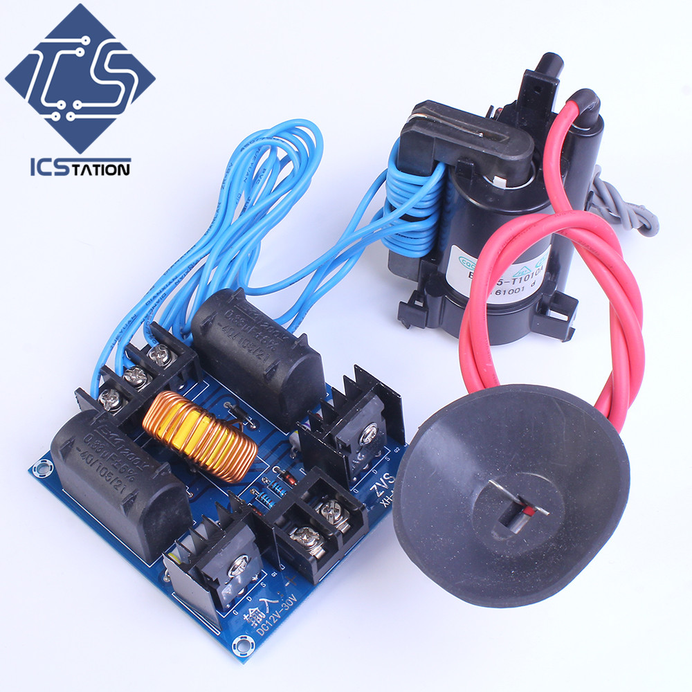 XH-M651 High Voltage Generator Driving Board Arc ZVS Tesla Coil Flyback Driver for SGTC /Marx Generator/jacob's Ladder DC 12-30V nano tesla coil amazing flashing generator marx generator teaching experiment