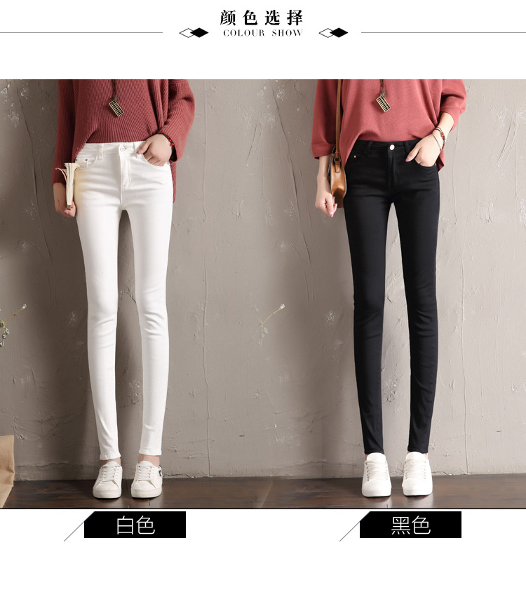 Lady trousers,2019 new spring and autumn button pencil Women's pants