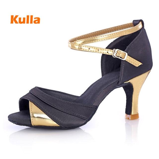 27aa8e255 Salsa Sapatos de Dança Latina das mulheres Sapatos de Festa Para  Meninas/Senhoras Tango Sapatilhas