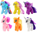 Newest Rainbow Horse 20cm Horse Animals Stuffed & Plush Girls Toy Genius Doll Cotton Model Children Birthday present PY135