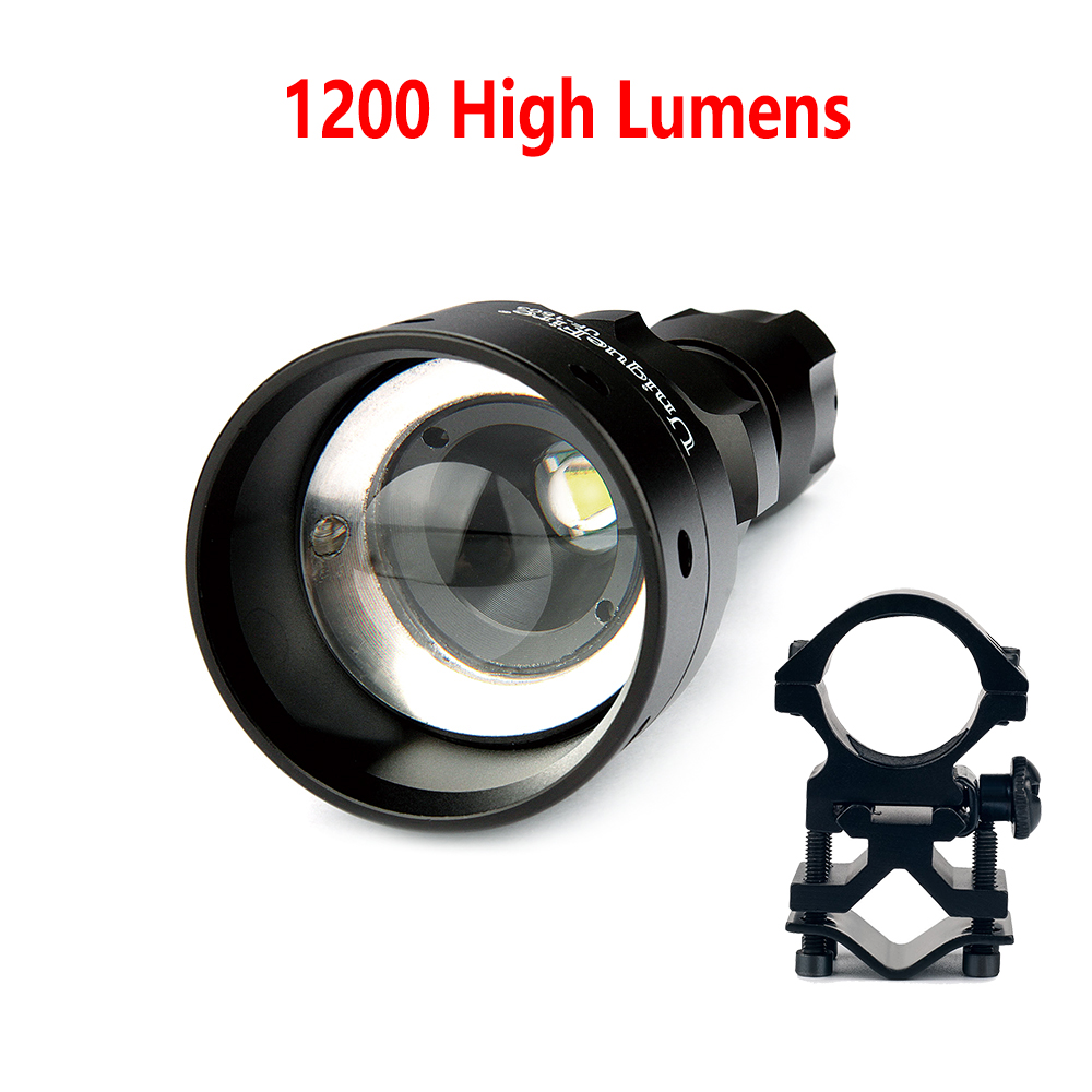 UniqueFire UF-1503 Cree XML T6 Portable Led Torch 1200 High Lumens Super Bright Flashlight+Gun Mount Fit For Hunt, Camp p80 panasonic super high cost complete air cutter torches torch head body straigh machine arc starting 12foot
