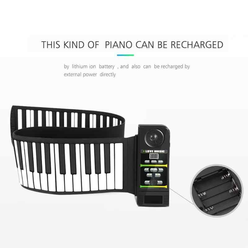 88 49 клавиш Гибкая силиконовая сворачивающаяся пианино Складная электронная клавиатура для детей студенческий музыкальный инструмент