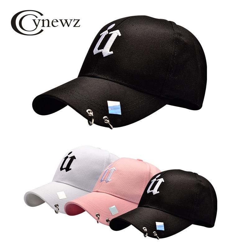 Fashion Men Baseball Cap Women Hip Hop Baseball Hats With Metal Rings Casual Cool Letter Hip Hop Baseball Hats Snapback Caps