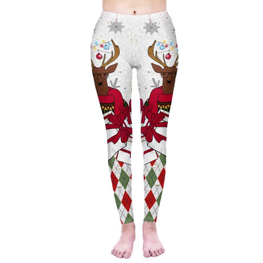 Fashion Women Legging Hipster Christmas Printing Leggins Workou Legins Slim Fitness Pants Punk Elasticity Leggings
