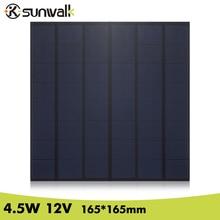 лучшая цена 4.5W 12V 380mAh 165*165mm DIY Solar Panel Polycrystalline PET + EVA Laminated Mini Solar Cell for DIY Test and Solar System