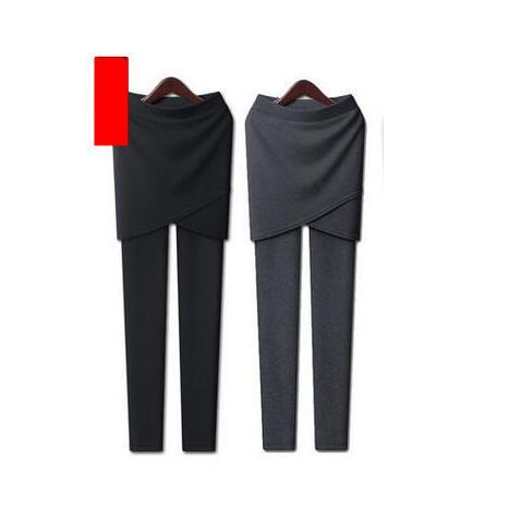 2016 New Fashion Big Size Cotton Material Two Package Hip Siamese Women Thin Nine Leggings Irregular Cross Side Slit Leggings