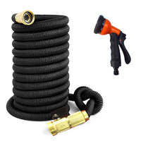 Hot Selling 25FT 75FT Garden Hose Expandable Magic Flexible Water Hose EU Hose Plastic Hoses Pipe With Spray Gun To Watering