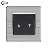 Coswall переключатель для занавесок настенный переключатель для электрического подъемного оборудования для занавесок панель из нержавеющей ...