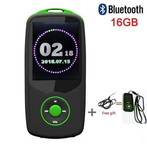 Original RUIZU X06 Bluetooth Sports MP4 Music Player 16GB with 1.8Inch Screen High Quality Lossless Recorder Walkman Green