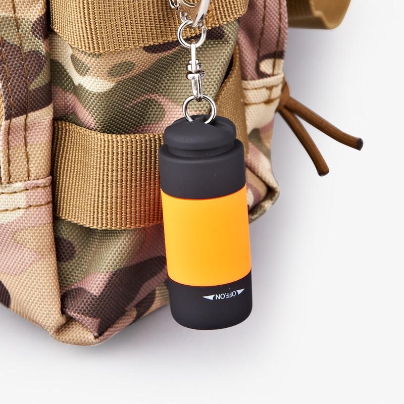 Mini Pocket USB Rechargeable Flashlight Key Chain LED Lighting Super Small Hand Lamp(COLOR RANDOM SEND)