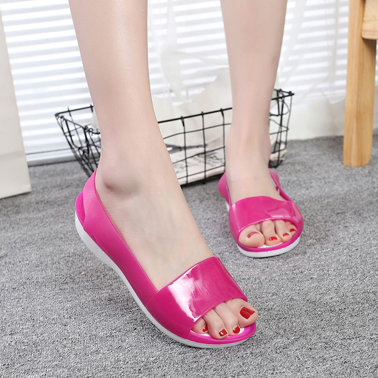 Women Sandals 2018 Hot Summer New Candy Color Women Shoes Peep Toe Stappy Beach Valentine Rainbow Croc Jelly Shoes Woman Flats mcckle women jelly shoes rianbow summer sandals female flat shoe casual ladies slip on woman candy color peep toe beach shoes