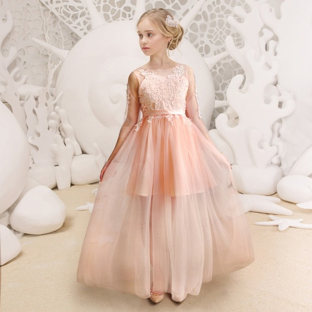 Ellie's Bridal Party Dresses Flower Girl Dress Floor Length