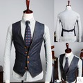 Os Recém-chegados 2016 Moda Único Breasted Coletes À Prova de Vestido Jeans Masculino Personalidade Cowboy Vest Cabido Negócios Jaqueta Demin Colete