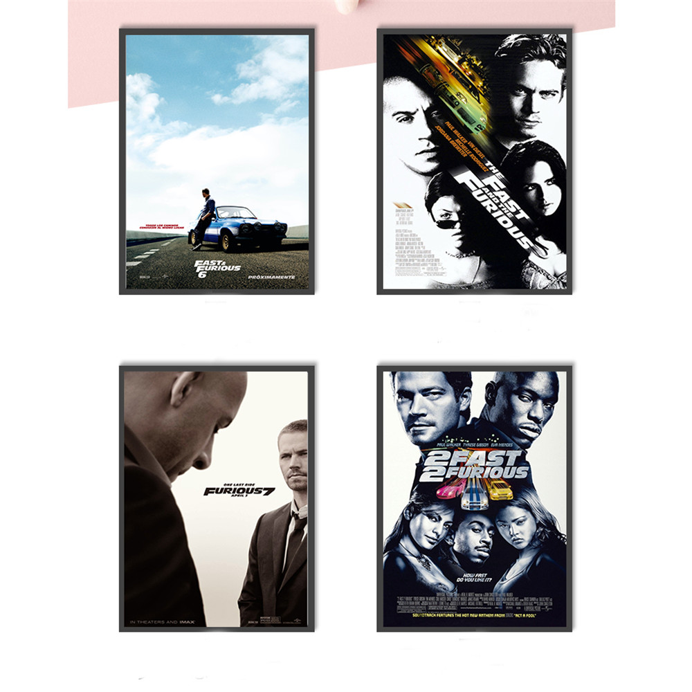 Posters Wall-Picture Movie Paul-Walker Living-Room Furious Home-Decoration for Kids Classic