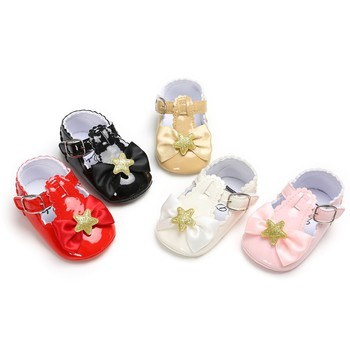 da634a1c 2019 nuevo estilo bebé Unisex estrella chico zapatos con corona cabeza  lindo sólido chico zapatos de cuero acogedor chico zapatos pantufa infantil