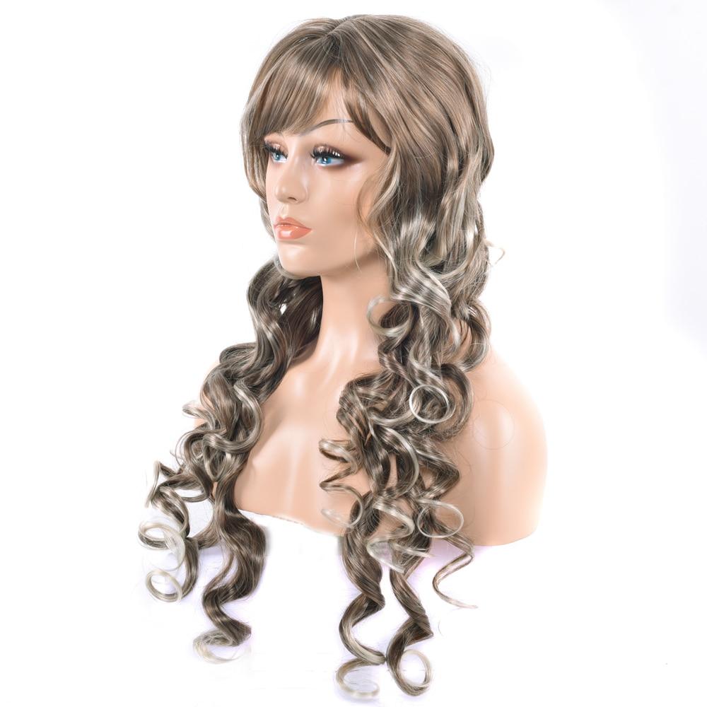 100% QualitäT Soowee 75 Cm Lange Wellenförmige Brown Blonde Mischfarbe Synthetische Haar Cosplay Perücken Party Perücke Headwear Zubehör Hohe QualitäT Und Geringer Aufwand