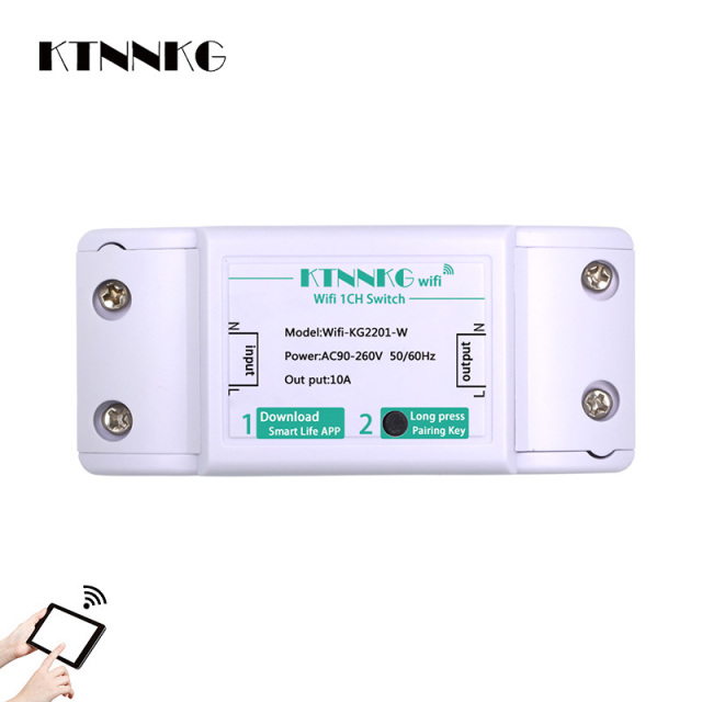 Ktnnkg Wifi Remote Switch Control Light Relay Receiver Universal Wireless Smart Home Gadgets 10a 220v