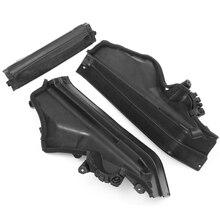 Автомобильный 3x двигатель верхний отсек перегородки панели набор черный пластик для BMW X5 X6 E70 51717169419,51717169420, 51717169421