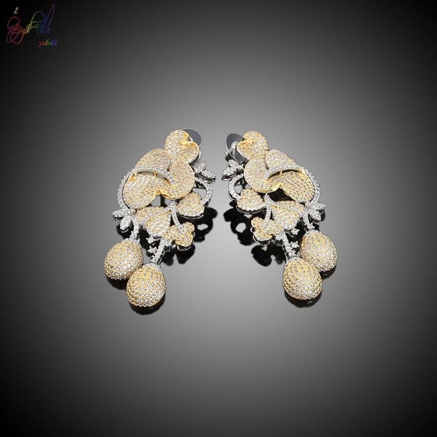Yulaili Europei e Americani personalità selvaggia braccialetto & collana uomini titanio acciaio oro bold decorazione dei monili set - 4