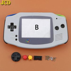 Image 5 - Jcd 1 pcs 풀 세트 하우징 쉘 케이스 커버 + 스크린 렌즈 프로텍터 + 게임 보이 어드밴스 gba 콘솔 용 스틱 라벨