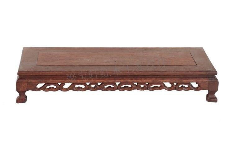 Mahogany Wood Carving Handicraft Furnishing Articles Base Wenge Flowerpot Shelf of Buddha Mammon Base flowerpot mammon root base frame figure of buddha rosewood wood carving handicraft furnishing articles wood tottenham