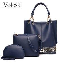 3Pcs/Sets Women Handbag 2019 Messenger Bags Ladies Fashion Shoulder Bag Ladies PU Leather Casual Female Shopper Bolsa Feminina недорго, оригинальная цена