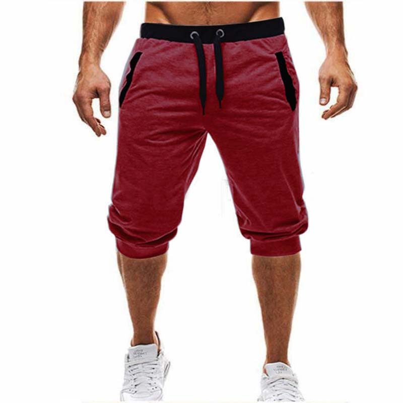 2019 Spring And Summer Brand Men's Jogger Sports Tight Shorts Men's Red Shorts Men's Fitness Gym Shorts Men Exercise