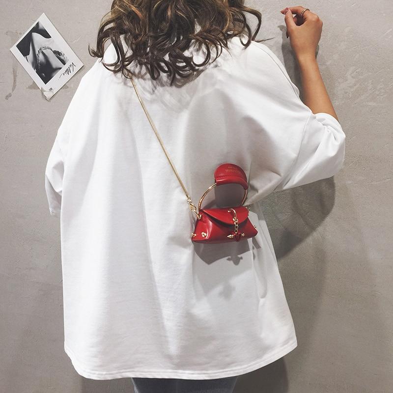 Элегантная Женская мини сумка тоут 2019 летняя новая качественная кожаная женская дизайнерская сумка на цепочке сумка через плечо Bolsos Mujer