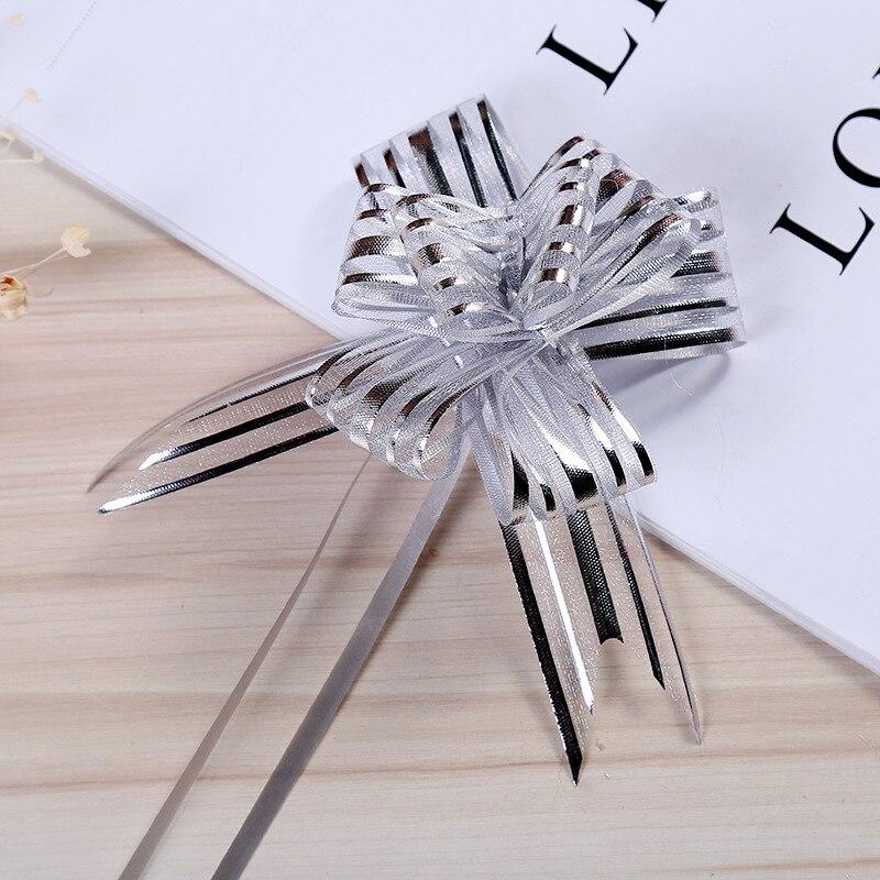10pcs/lot Christmas Pull Bows Ribbons Christmas Tree Decorations For Home Christmas Gift Bows For Crafting 2019navidad Noel DIY