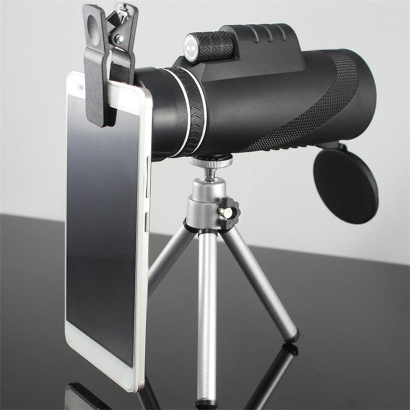 40X60 Monocular Optics Zoom Telescope HD Night Vision Scope with Phone Holder Tripod Waterproof Hunting Turizm Opera Spyglass