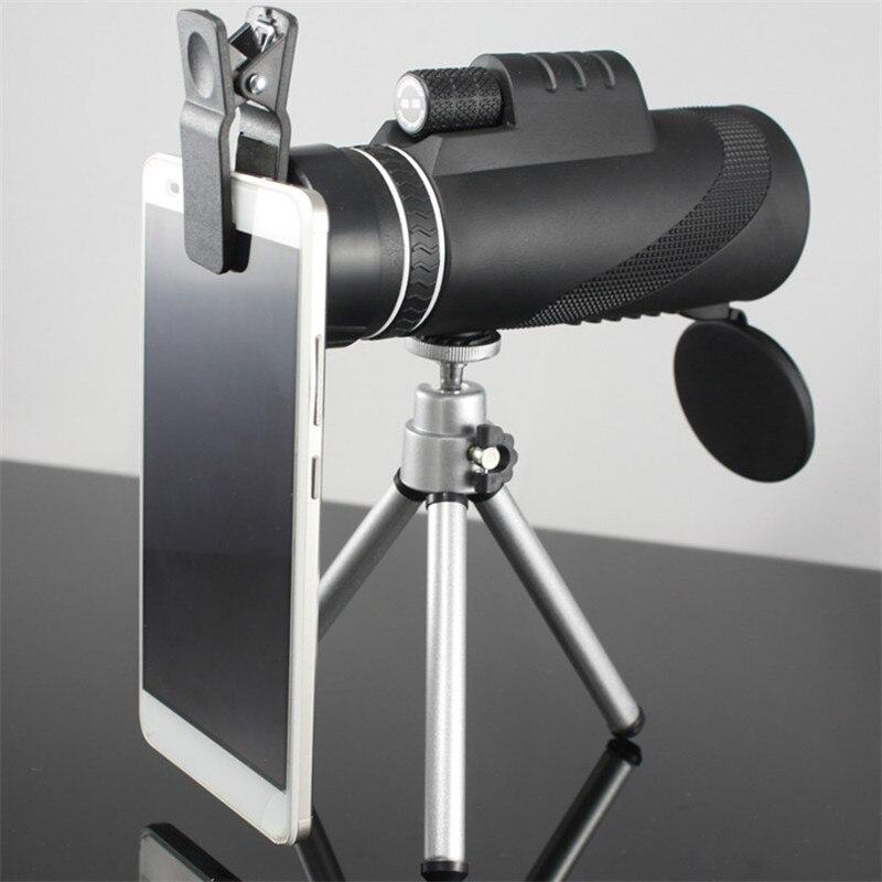 Image 2 - Monocular 40x60 Zoom HD Professional Binoculars Telescope night vision Military Spyglass with Phone Holder Tripod Hunting Turizm-in Monocular/Binoculars from Sports & Entertainment
