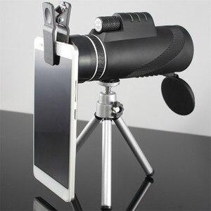 Image 2 - Monoküler 40x60 yakınlaştırma HD profesyonel dürbün teleskop gece görüş askeri Spyglass telefon tutucu Tripod avcılık Turizm