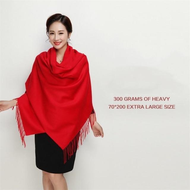 IANLAN Fashion Womens Dual Use Scarves 100% Wool Tassels Shawls Ladies Winter Thickening Cloak Pashmina Long Stoles Wrap IL00137