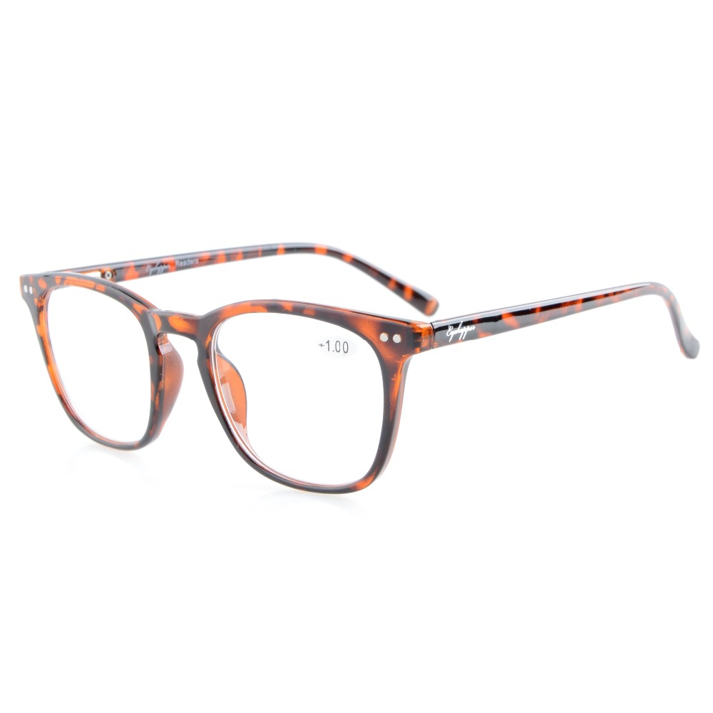 R095 Eyekepper Readers Quality Spring-Hinges Square Key Hole Style Reading Glasses +0.50---+4.00