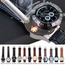 2015 de Moda de Lujo Top Brand Militar Encendedor USB Reloj de Los Hombres Casual relojes de pulsera de Cuarzo con Sin Llama Encendedor-P00