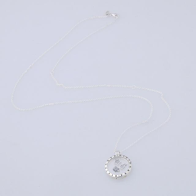 Pandulaso celestial petites medalhão flutuante grande pingente gargantilha original 925 silver charm colares & pingentes para as mulheres