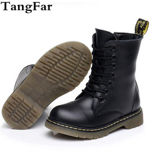 High Boots Kids Genuine Leather Winter Fur Ankle Boots For Boys Toddler Fashion Girls Snow Boots Children Shoes