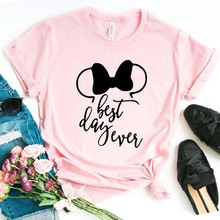 best day ever bow Print Women tshirt Cotton Casual Funny t shirt For Lady Girl Top