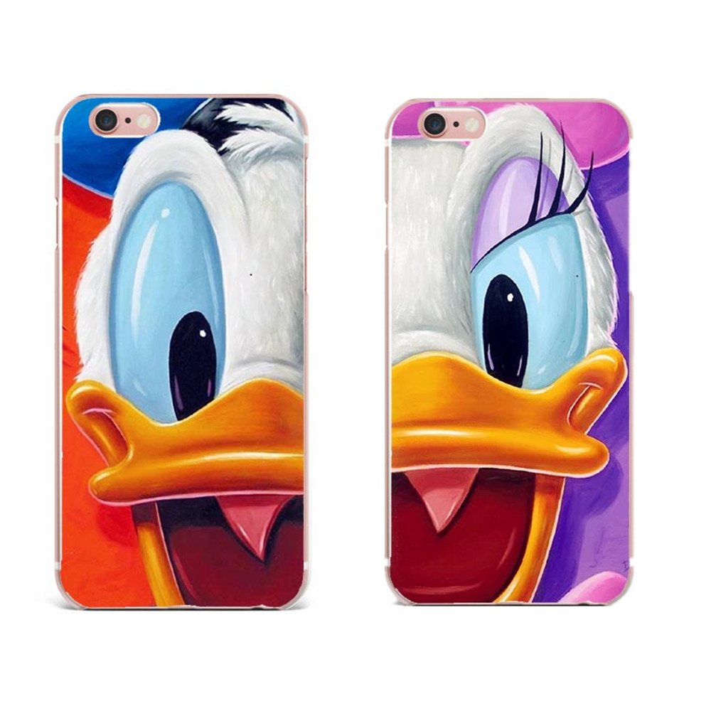 ULTRA Slim Fitting Skin Soft Clear Rubber Silicone Cover for iphone 5 6 6s 7 7Plus Cute Mickey Minnie Mouse Donald Daisy Duck